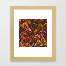 Beautyberry on Purple Framed Art Print