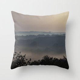 Magic French Sunrise Throw Pillow