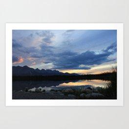 Horseshoe lake Art Print