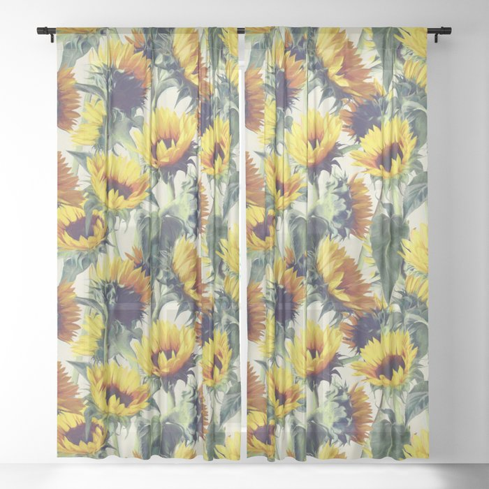 Sunflowers Forever Sheer Curtain