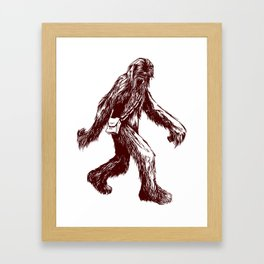 I Think There's a Squatch... Framed Art Print