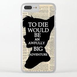 Peter Pan Over Vintage Dictionary Page - Big Adventure Clear iPhone Case