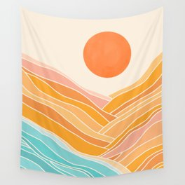 Adventure On The Horizon / Abstract Landscape Wall Tapestry