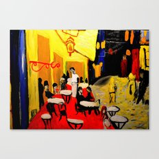 night at the cafe  Canvas Print