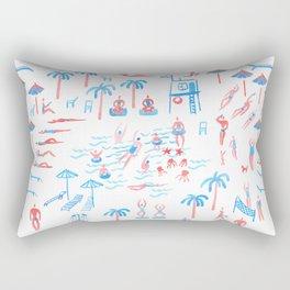 beach club pattern Rectangular Pillow