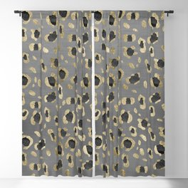 Leopard Animal Print Glam #4 #shiny #pattern #decor #art #society6 Blackout Curtain