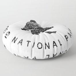 Great Smoky Mountains National Park Sasquatch Floor Pillow