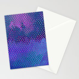 Acid Ombre Herringbone Stationery Cards