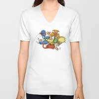 sesame street V-neck T-shirts featuring Open Sesame by Eric Fan
