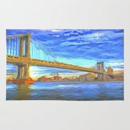 Manhattan Bridge Pop Art Rug