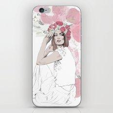 Bohemia - Fashion illustration - Bohemian flower girl iPhone & iPod Skin
