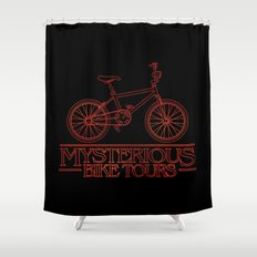 Mysterious Bike Tours Shower Curtain