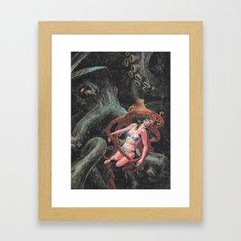 r a v e l e d Framed Art Print