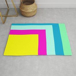 90's colour palette pattern design Rug