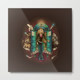 tardis bad wole Metal Print