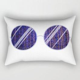 Purple Universe Glasses Rectangular Pillow