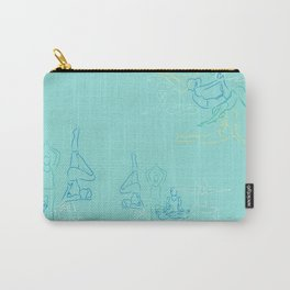 Turquoise Yoga Carry-All Pouch