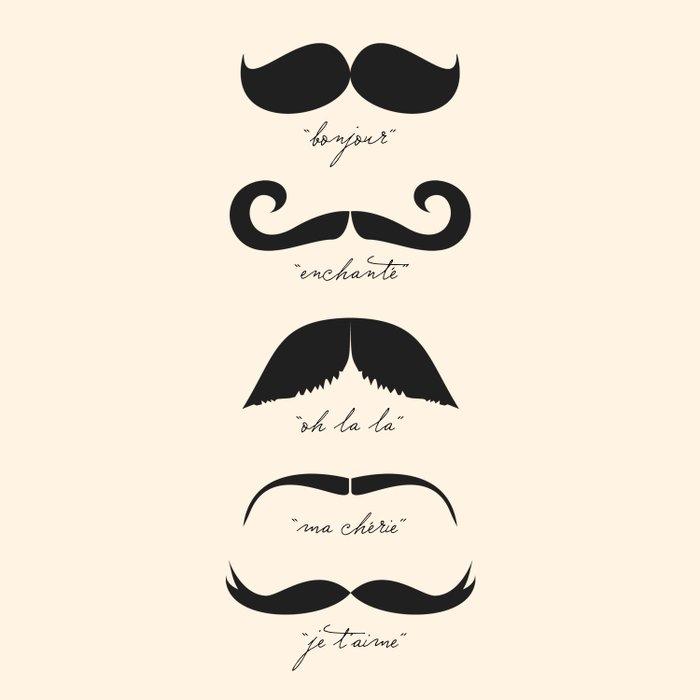 Monsieur Moustache Duvet Cover