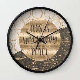 GRAPHIC ART This is my happy place Wall Clock