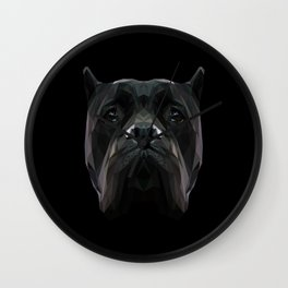 Cane Corso dog low poly. Wall Clock