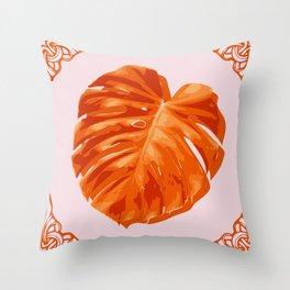 Monstera, Santa, SOMMAR Limited Edition #2 Throw Pillow