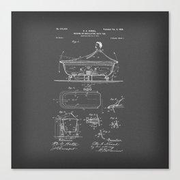 Rocking Oscillating Bathtub Patent Engineering Drawing Canvas Print