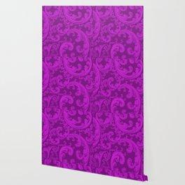Retro Chic Swirl Dazzling Violet Wallpaper
