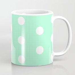 POLKA DOT ((seafoam green)) Coffee Mug