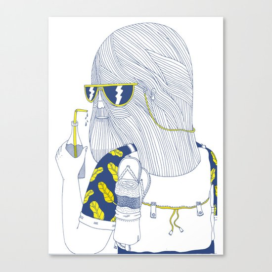 Summer Monster Canvas Print