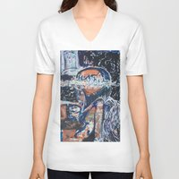 angels V-neck T-shirts featuring Angels by Prime Vice