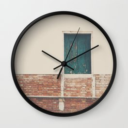 A little pop of color in Venice Wall Clock