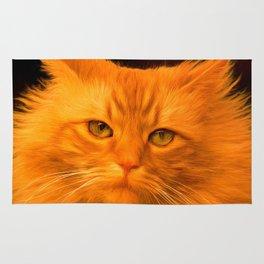 Red cat Rug