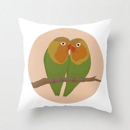 Fischer's Lovebirds Throw Pillow