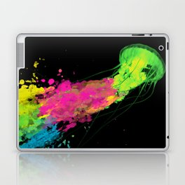 splatter jellyfish Laptop & iPad Skin