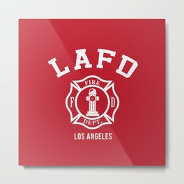 LA Firefighters Metal Print