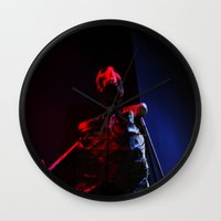 skeleton Wall Clocks featuring Skeleton by Mikhaelle A.