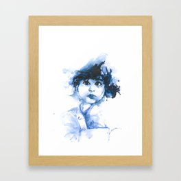 We can easily forgive a child who is afraid of the dark. Framed Art Print
