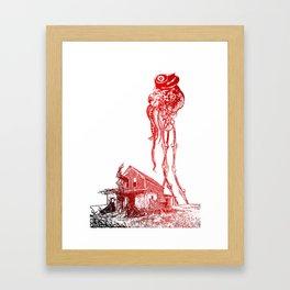 BATTLE OF THE WORLDS Framed Art Print