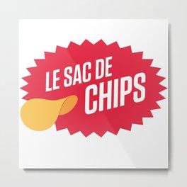 Sac de chips Metal Print