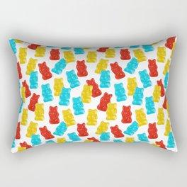 Red, Yellow and Blue Gummy Bear Candy Rectangular Pillow