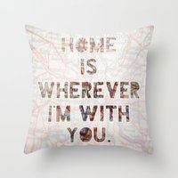 ohio Throw Pillows featuring HOME (Ohio) by Madison Daniels