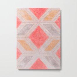 Boho Harlequin Pattern Metal Print