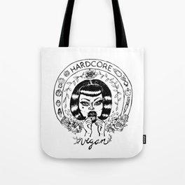 Hardcore Vegan Punk DIY Tote Bag