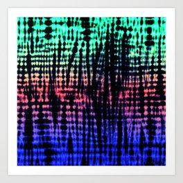 Dark Graphic Stripes Art Print