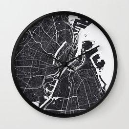 Copenhagen City Map Wall Clock