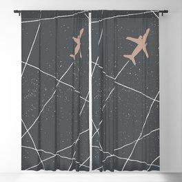 The Jet Set - Charcoal Blackout Curtain