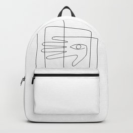 Square Face One Line Art Backpack