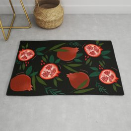 Pomegranate tropical pattern Rug