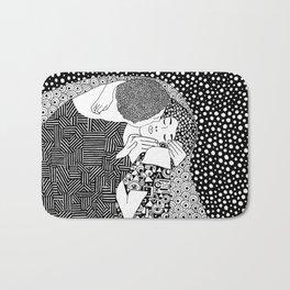 The kiss of Gustav Klimt Bath Mat
