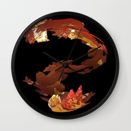 Spiral Flames Wall Clock